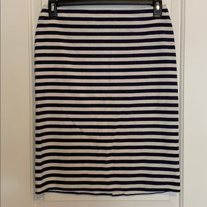 Blue and White Stripe 100% Canvas Cotton Skirt